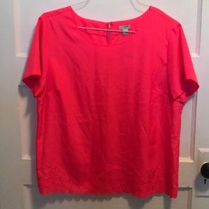 Neon Coral Spring Top